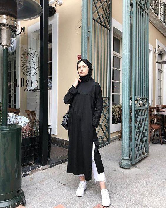 Hijab, ootd hijab, outfit hijab, hijabers, nisa cookie, outfit of the day, outfit kekinian, outfit daily, hijab daily, daily wear, hijab daily, daily wear hijab , inspirasi hijab , Inspirasi Mix & Match Hijab serba Hitam, padu padan hijab hitam , kerudung hitam , padu padang kerudung hitam , padu padan hijab hitam , style hijab kekinian , hijab modis , hijab hitam , hijab hitam trendy